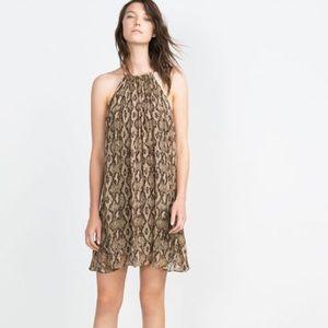 Zara snake print halter dress